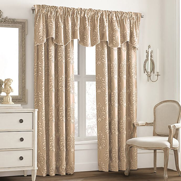 Alternate image 1 for Valeron Glenview Rod Pocket with Pencil Pleat Window Curtain Panel