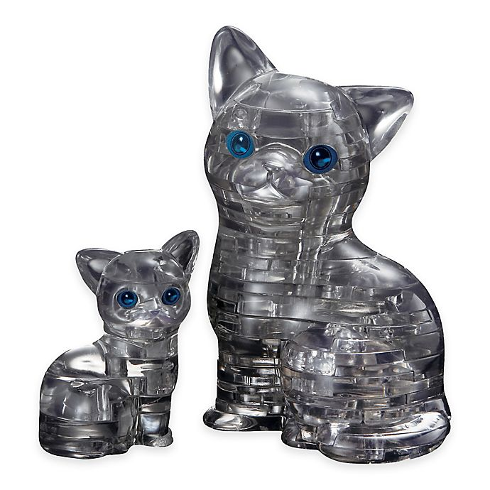 Alternate image 1 for Cat with Kitten 49-Piece Original 3D Crystal Puzzle