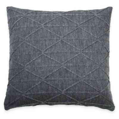 Dkny City Pleat Diamond Square Throw Pillow In Slate Grey