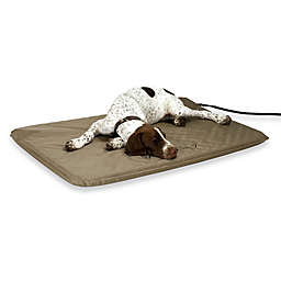 Lectro-Soft Outdoor Large Heated Bed in Tan