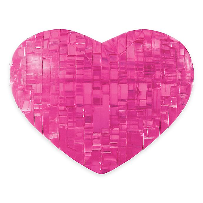 Alternate image 1 for Heart 45-Piece Original 3D Crystal Puzzle in Pink
