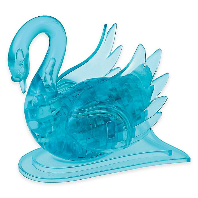 Alternate image 1 for Swan 47-Piece Original 3D Crystal Puzzle in Blue