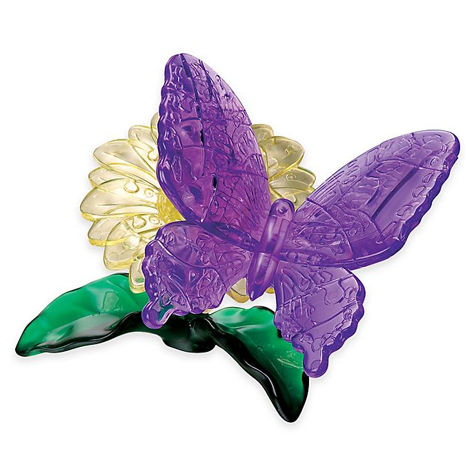 Alternate image 1 for Butterfly 38-Piece Original 3D Crystal Puzzle