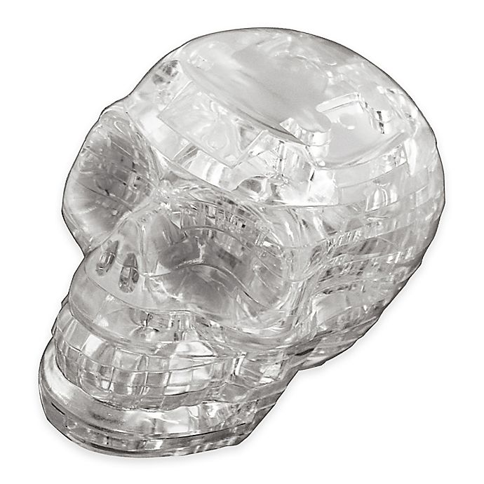 Alternate image 1 for Clear Skull 48-Piece Original 3D Crystal Puzzle