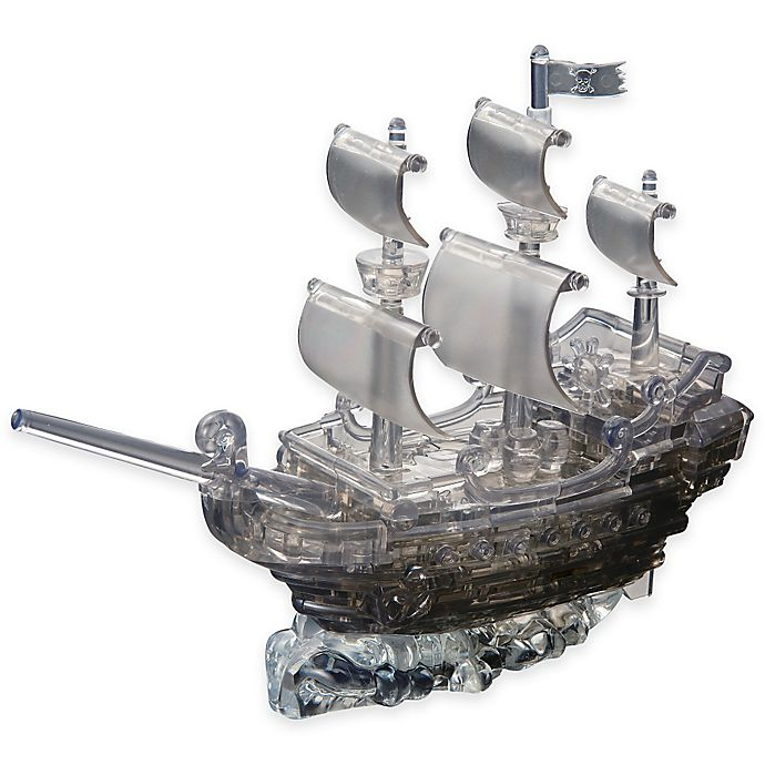 Alternate image 1 for Pirate Ship 101-Piece Original 3D Crystal Puzzle in Black
