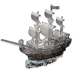 Pirate Ship 101-Piece Original 3D Crystal Puzzle in Black