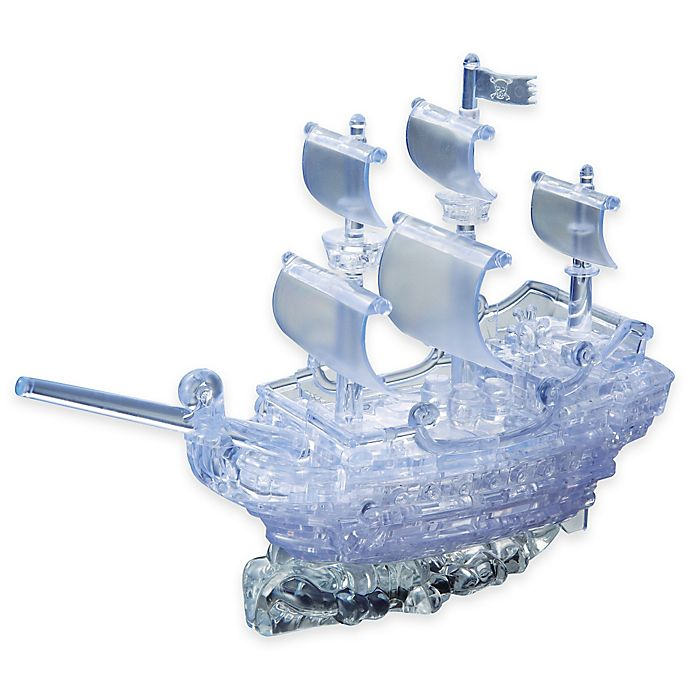 Alternate image 1 for Pirate Ship 98-Piece Original 3D Crystal Puzzle