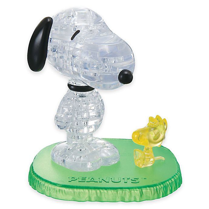 Alternate image 1 for Snoopy with Woodstock 41-Piece Original 3D Crystal Puzzle