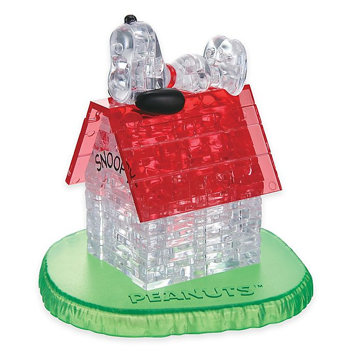 Alternate image 1 for Snoopy House 50-Piece Original 3D Crystal Puzzle