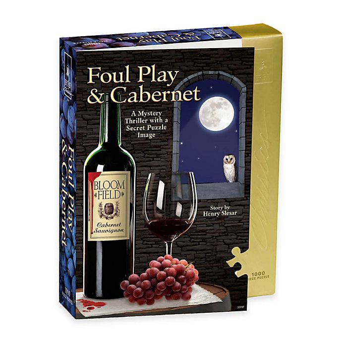 Alternate image 1 for BePuzzled® 1000-Piece Foul Play and Cabernet Murder Mystery Puzzle
