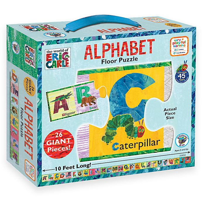 Alternate image 1 for BePuzzled® The World of Eric Carle 26-Piece Alphabet Floor Puzzle