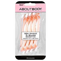 About 8-Count 3-Blade Spa Shave Disposable Razors