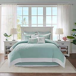 HH Coastline 4 Piece Comforter Set Full Aqua