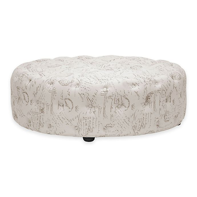 Alternate image 1 for Baxton Studio Cardiff Linen Modern Tufted Ottoman