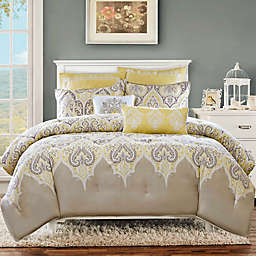 Madison Park Nisha 5-Piece Twin Comforter Set in Yellow