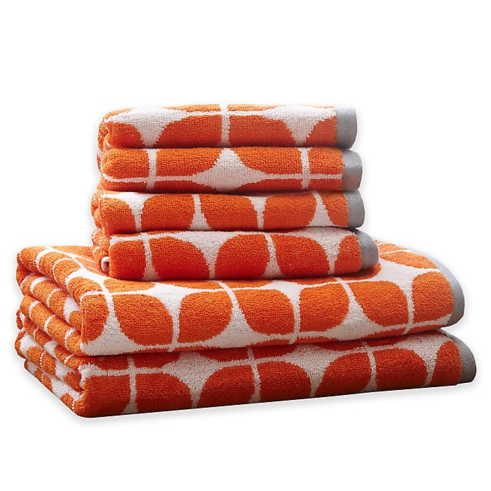 Alternate image 1 for Intelligent Design Lita 6-Piece Cotton Jacquard Towel Set