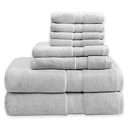 Madison Signature 800GSM 100% Cotton 8-Piece Towel Set in Silver