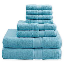 Madison Park Signature 800GSM 100% Cotton 8-Piece Towel Set in Aqua