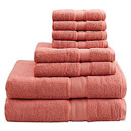 Madison Park Signature 800GSM 100% Cotton 8-Piece Towel Set in Coral