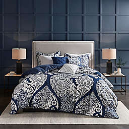 Madison Park 6-Piece Vienna Full/Queen Duvet Cover Set in Indigo