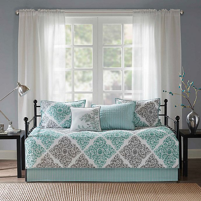 Alternate image 1 for Madison Park Essentials Claire 6-Piece Daybed Set in Aqua