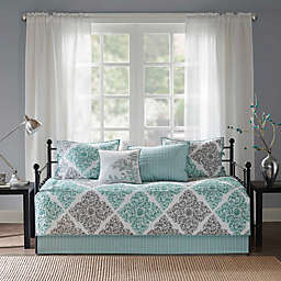 Madison Park Essentials Claire 6-Piece Daybed Set in Aqua