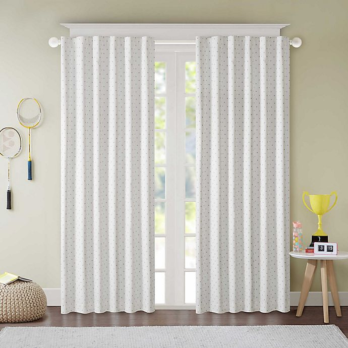Lizzie Dot 100 Blackout Rod Pocket Window Curtain Panel Bed Bath Beyond