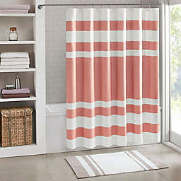 Madison Park 72-Inch x 72-Inch Spa Waffle Shower Curtain in Coral