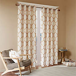 Madison Park Brooklyn 84-Inch Grommet Top Window Curtain Panel in Spice (Single)
