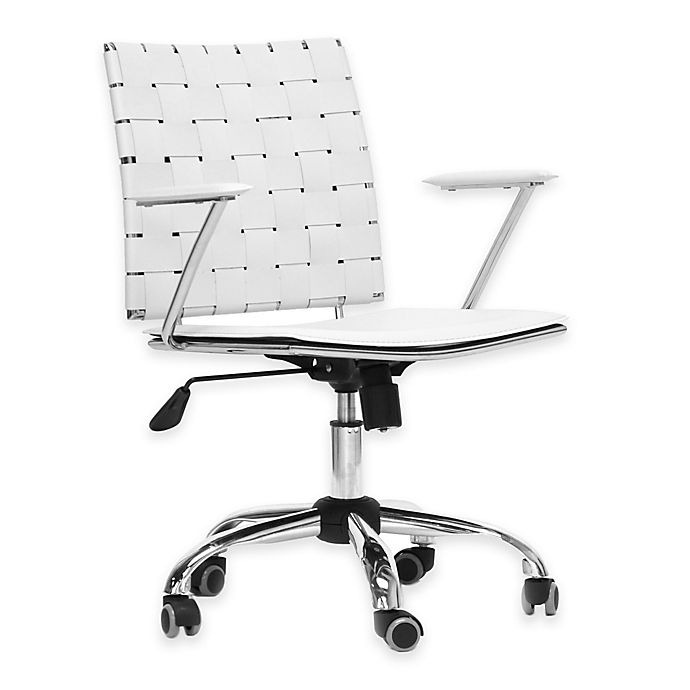 Alternate image 1 for Baxton Studio Vittoria Leather Modern Office Chair in White
