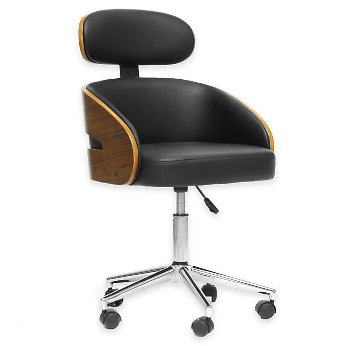 Alternate image 1 for Baxton Studio Kneppe Modern Office Chair in Black
