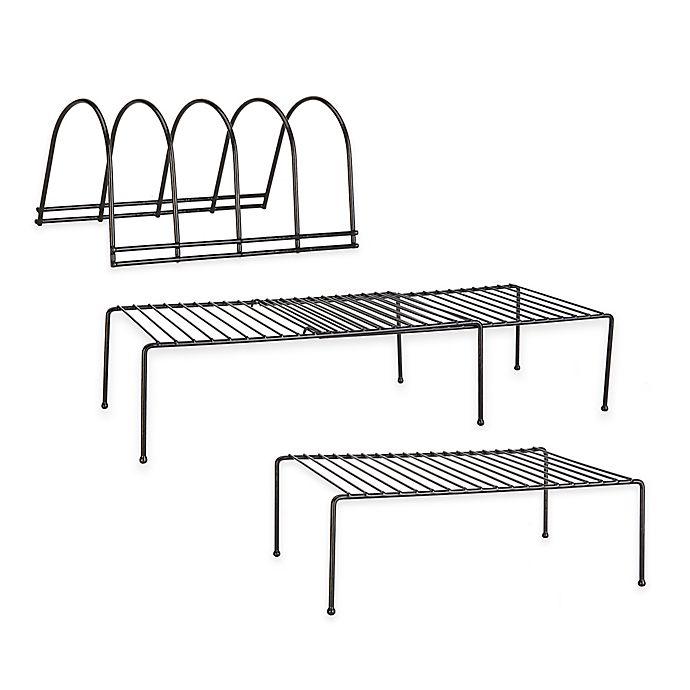 Alternate image 1 for Grayline® Cabinet Organizers in Black