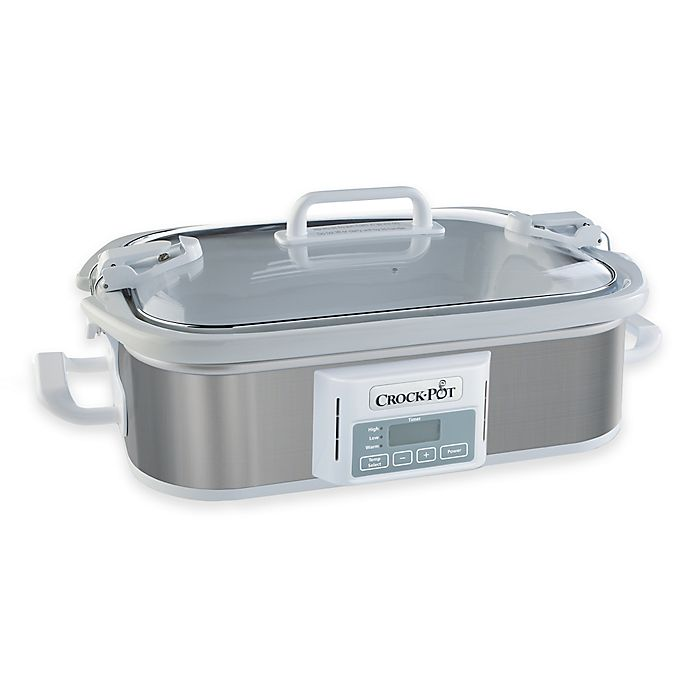 Alternate image 1 for Crock-Pot® Programmable Casserole Slow Cooker