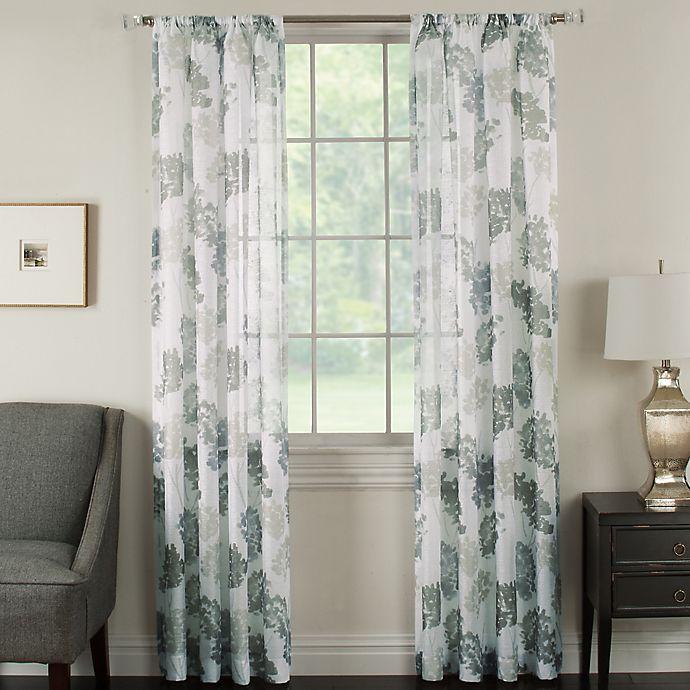 Alternate image 1 for Brinkley Sheer 63-Inch Rod Pocket Sheer Waterflower Window Curtain Panel in Glacier