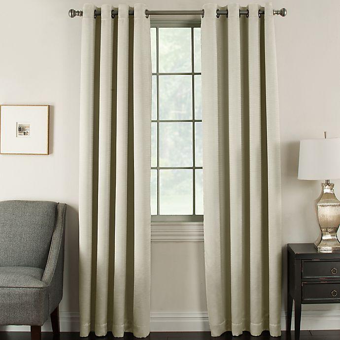 Alternate image 1 for Brinkley 108-Inch Grommet Top Room Darkening Window Curtain Panel in Ivory