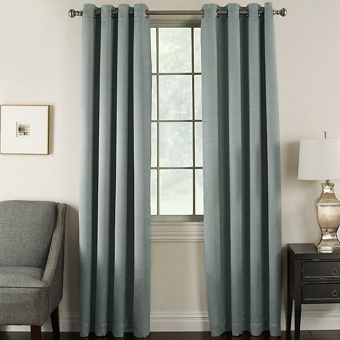 Alternate image 1 for Brinkley 63-Inch Grommet Top Room Darkening Window Curtain Panel in Slate