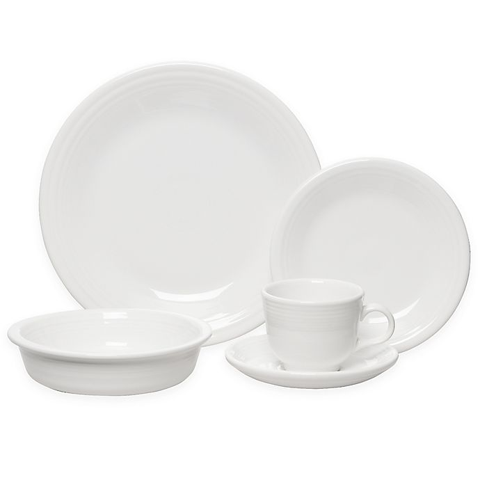 Alternate image 1 for Fiesta® 5-Piece Place Setting in White
