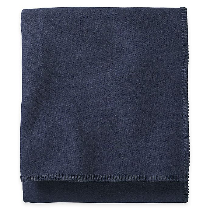 Alternate image 1 for Pendleton® Eco-Wise Wool Twin Washable Blanket in Navy