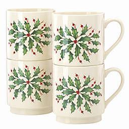 Lenox® Holiday™ Stackable Mugs (Set of 4)