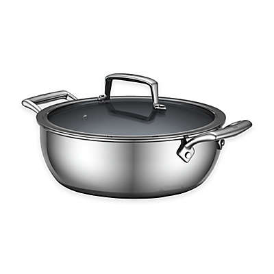 Zwilling J.A. Henckels Energy 4.6 qt. Ceramic-Coated Stainless Steel Covered Perfect Pan