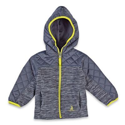 rugged bear reversible fleece midweight jacket in grey. Black Bedroom Furniture Sets. Home Design Ideas