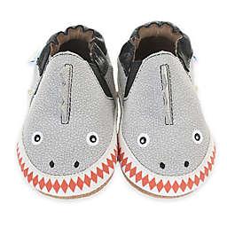 Robeez® Soft Soles™ Dinosaur Dan Crib Shoe in Grey