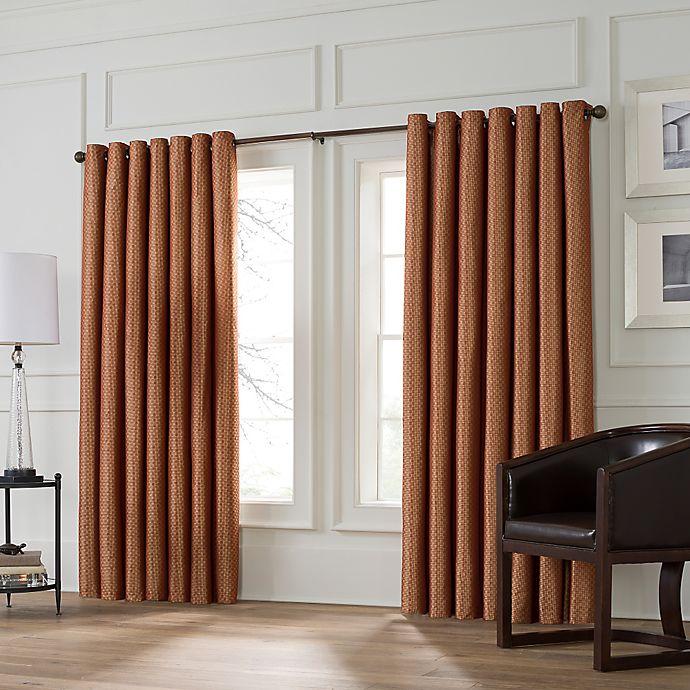 Alternate image 1 for Valeron Stradivari 120-Inch Room Darkening Window Curtain Panel in Rust