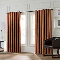 Valeron Stradivari 120-Inch Room Darkening Window Curtain Panel in Rust