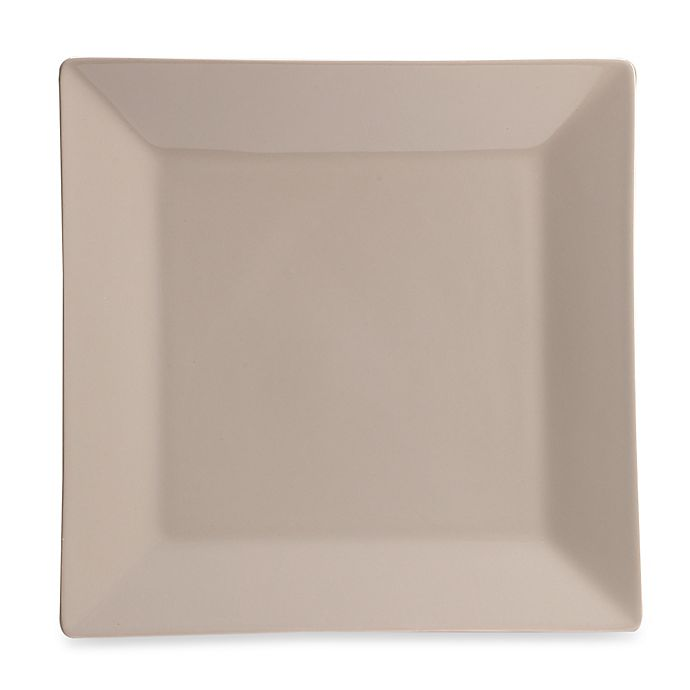 Alternate image 1 for Real Simple® Square Dinner Plate in Taupe