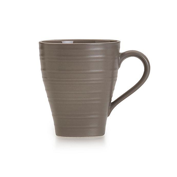 Alternate image 1 for Mikasa® Swirl Square Mug in Mocha