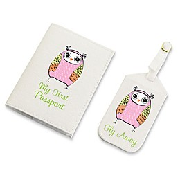 Lillian Rose™ Owl Luggage Tag and Passport Cover Set