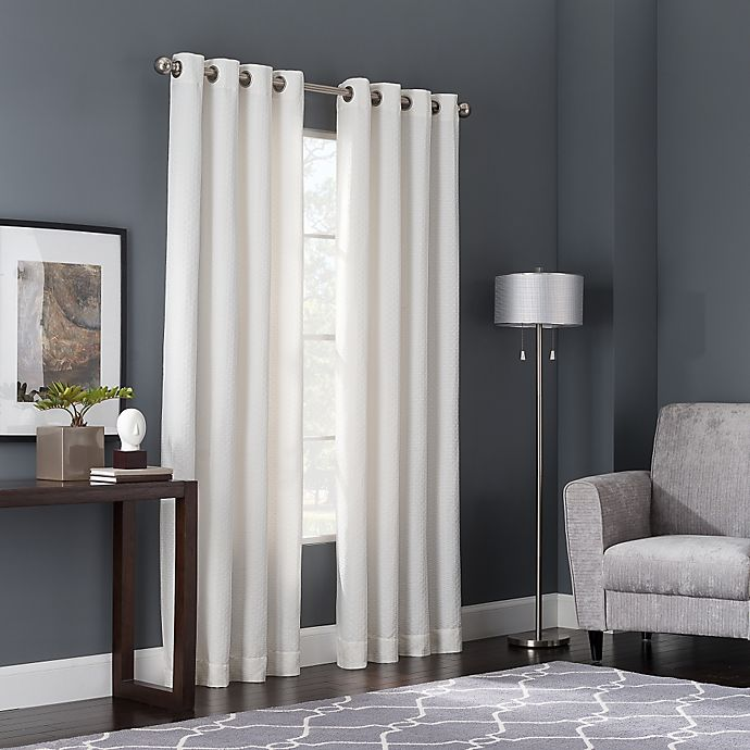 buy bianca 108 inch window curtain panel in white from bed bath beyond. Black Bedroom Furniture Sets. Home Design Ideas