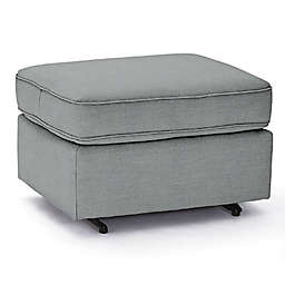 Best Chairs Custom 0026 Gliding Ottoman in Blue