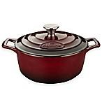 La Cuisine 3.75 qt. Round Cast Iron Casserole in Ruby